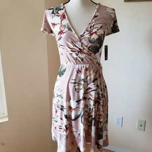 NWT!!! Beautiful & soft faux wrap dress